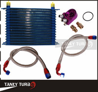Wholesale 15 ROW AN AN UNIVERSAL ENGINE OIL COOLER KIT ALUMINUM HOSE END KIT TK OK1013