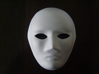 blank half mask - Blank Masks Paper Match Mask Masquerade Party Masks DIY Painting Mask Festive Party Supplies Halloween Decorations Full Face Cartoon Masks