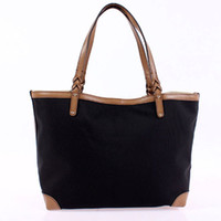 Wholesale Excellent Fashion craft medium tote with detachable pocket black hobo handbag