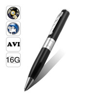 Wholesale 16G MP9 HD Spy Pen Camera video and audio recording USB tiny smart dvr to brazil