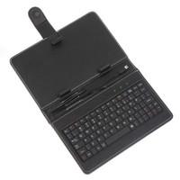 Wholesale 7 Leather case usb keyboard bracket for inch Android Allwinner Ainol Novo Epad Tablet PC Netbook