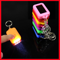 Wholesale Mini Color Solar Power Rechargeable LED Flashlight Keychain Light Torch