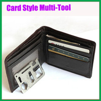 Wholesale 11 Functions Survival Camping Tool Credit Card Knife Bottle Opener NEW