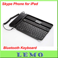 Wholesale Hot Bluetooth Keyboard Aluminum Case with Skype Telephone for iPad iPad iPhone3G G