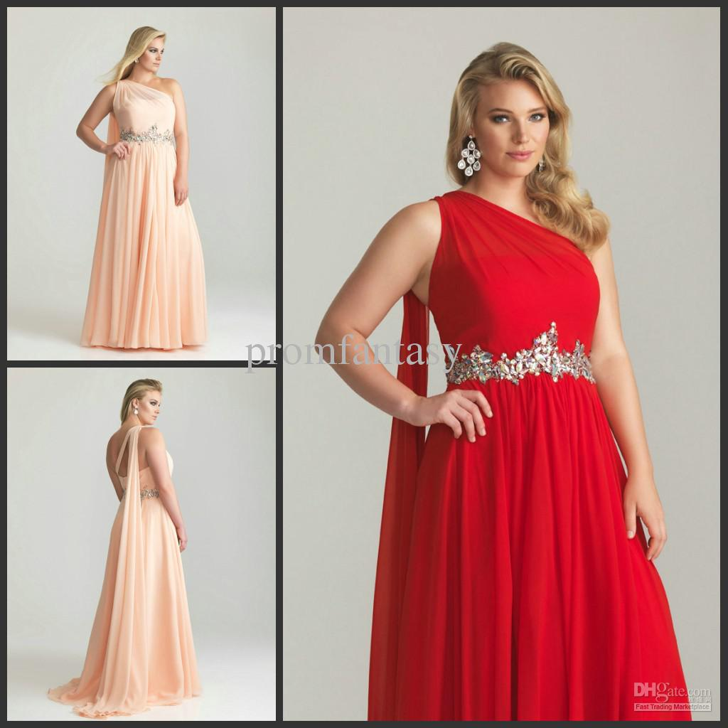 Red One Shoulder Plus Size Dresses Plus Dress Gallery