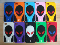 Wholesale Alien Slicone Case Gel Soft Back Cover Skin for iphone iphone4S New Colorful Multi colors