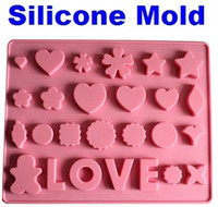 Wholesale Silicone Mold Mould Maker LOVE Chocolate Muffin Cup Cake Jelly Candy Ice Cupcake Tray