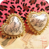 Wholesale Fashion Cute Love Letter word Acrylic Stud Earrings