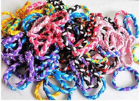 Wholesale 200pcs Candy color triangle weave braid hand braided hair circle hair rope hand ring rubber band