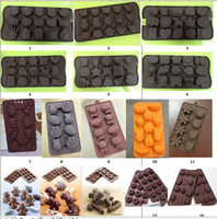 Wholesale Multi Designs Baking Chocolate Jelly Ice Silicone Mould Mold Tray Maker Animal Flower Ginger man