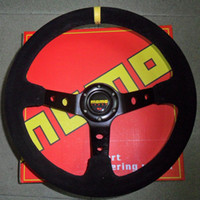 Wholesale Racing Car MOMO Suede Leather Drifting Steering Wheel Sport Steering Wheel