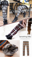 Wholesale New Women Nordic styles Deer Snowflake Knitted Leggings Tights Pants