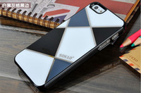 Wholesale SOKAD Fashion Plastic Case Lattice Gird Pattern for iphone5 Hard plastic Back Cover for iphone DHL