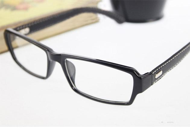 2015 Fashion PU Leather Legs Optical Glasses Square ...