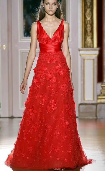 Sexy A Line V Neck Red Evening Pageant Dress Gowns Beaded ...