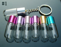 Wholesale Perfume Keyring Charms Aroma bottles Perfume Vials Perfume pendants glass bottle jewelry