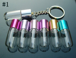 Perfume Keyring Charms Aroma bottles Perfume Vials Perfume pendants glass bottle jewelry