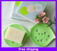 Wholesale Novel Leaf Soap Box Soap Dish Bathroom Soap Holder for Family cm