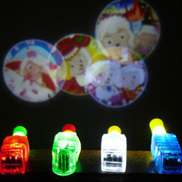 100pcs Cartoon LED Projector Lamp LED Laser Finger Light Beams Ring Torch Christmas Party Disco Glow