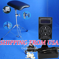 Wholesale Top Digital LCD Tattoo Power Supply Arm Leg Rest Adjustable Chair Kit USA Warehouse WS P018 WS D047