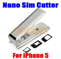 Wholesale Metal Standard Micro Nano Sim Card Cutter Tool Adapter for iPhone S th