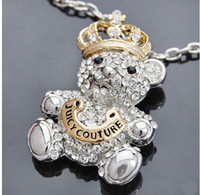 Wholesale bear pendant necklace Fashion jewelry necklace Silver plate necklaces