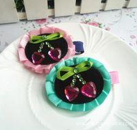 stick pins - New Style Sweet Baby Girl s Elliptical Hair pins Children s Korean Style Diamond Sticking Hair Clips