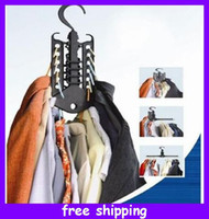 Garment belt rack - Multi function Magic Foldaway Fold Hangers Clothes Rack Cloth Hook Space Save Hanger cm