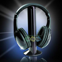 Wholesale 5 in WIFI Wireless Headphone Wireless Headset Monitor FM radio for MP4 PC TV Audio