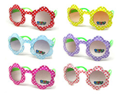 Wholesale Green Legs Colorful Sunflower Children Sun Glasses Kids Sunglasses UVA Protection With Free Shipment