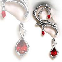 Wholesale Fashion Thorns Ear Cuff Earring Jewelry Two Ears