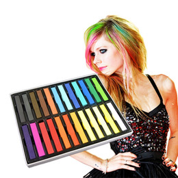 Wholesale 720 Fashion Fast Colors Non toxic Temporary Pastel Square Hair Dye Color Chalk set