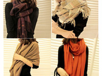 Wholesale New Pashmina Long Scarf With Grid Pattern Ladies Women Shawl Winter Warm Scarves Free Ship