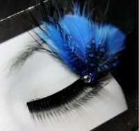Wholesale Mix Order COLORFUL Stylish Long False Eyelashes Semi Hand Made Feather Various types pairs