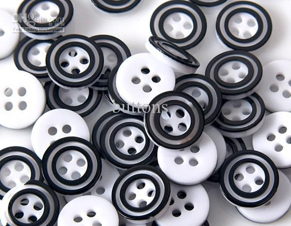 2017 Black And White Two Tone Shirt Button For Children's ...
