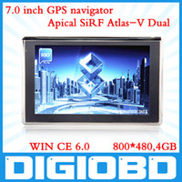Wholesale 7 Car GPS Navigation APICAL SiRF Atlas V Dual Core CPU MHz Bluetooth AV IN Cyber Monday