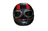 Wholesale Helmets Motorcycle Helmet Half Face flip up helmet Military German goggles helmet Black Red