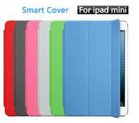 Wholesale Tri fold Magnetic Smart Cover Case W stand for iPad mini Sleep amp Wake UP function