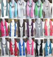 Wholesale Mix design Mix Colors Mixed pendant scarf Fashionable women jewelry scarf