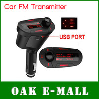 Wholesale Car Kit MP3 Player with Remote Wireless FM Transmitter Modulator USB SD MMC LCD Cijar Lighter
