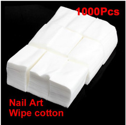 Wholesale 1000 Cotton Wipe Wipes For Nail Art Makeup Polish Acrylic Gel Tips Remover