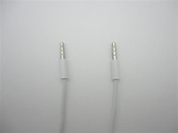 Wholesale white M mm to mm Car Aux Audio Cable for mobile iphone ipad for MP3 DHL Free