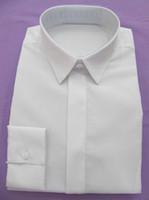 100% cotton men dress shirts - Custom Made Dress Shirt For Men Tailored White Mens Dress Shirts Cotton Shirts Bespoke Long Sleeve Mens Shirts White Business Shirt