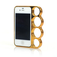 Wholesale Knuckle Ring Brass Marmoter Five Finger Rings Back Case for iphone G Accessories XMAS Mix Color
