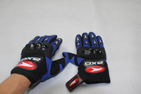 Wholesale Motorcycle Gloves AXO Racing Gloves full finger Gloves outdoor sport gloves Knight gloves Blue