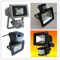 Wholesale 10W W W W W PIR Motion sensor LED Floodlight Outdoor Flood Light Warm Cool White V