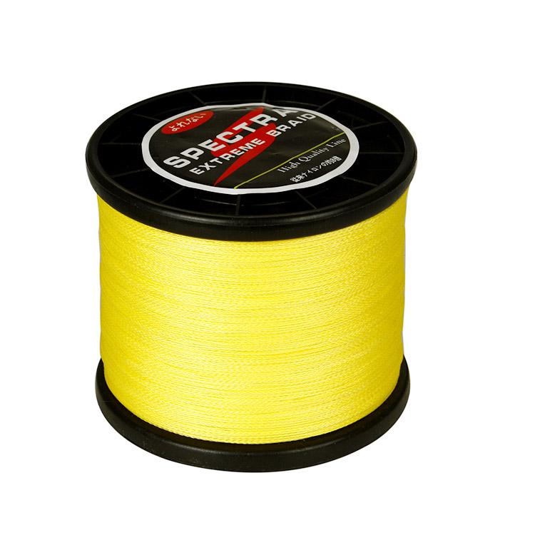 Wholesale spectra 1000m yellow 6lb 100lb 100 dyneema for Bulk braided fishing line