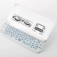 Wholesale Good item Iphone White Black Ultra thin slid out wireless keyboard for iphone5 Qwerty Keyboard