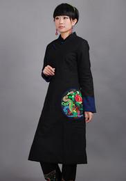 Wholesale Promotion Autumn winter new moral fashion cheongsam type long Cotton coat