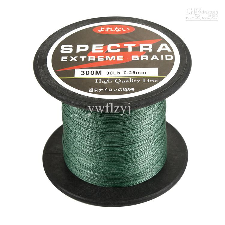 Wholesale spectra 300m green for Bulk braided fishing line